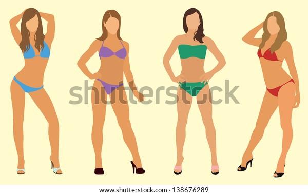 Sexy Women in Bikinis