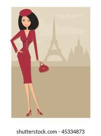 sexy women Shopping in Paris