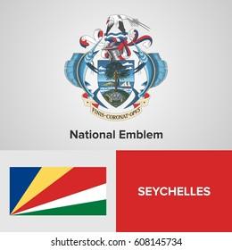 Seychelles National Emblem and flag