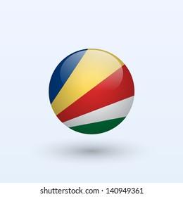 Seychelles round flag. Vector illustration.