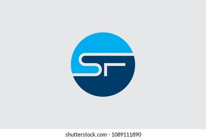 SF FS Letter Initial Logo Design Template