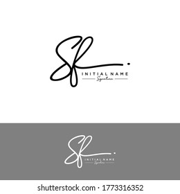 SF Initial letter handwriting and signature logo.