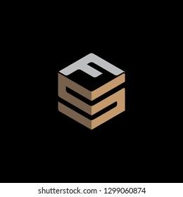 SF initial logo vector