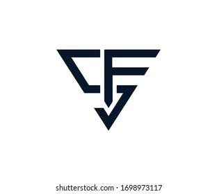 SF letter logo design (Vector)