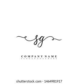 SG Initial beauty floral logo template