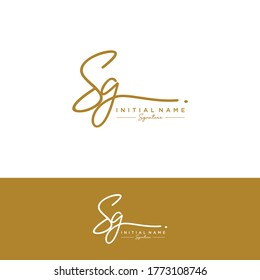 SG Initial letter handwriting and signature logo.