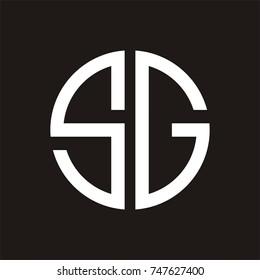 SG logo initial letter design template vector