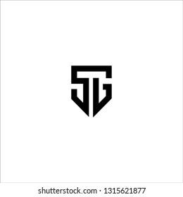SG logo letter design template