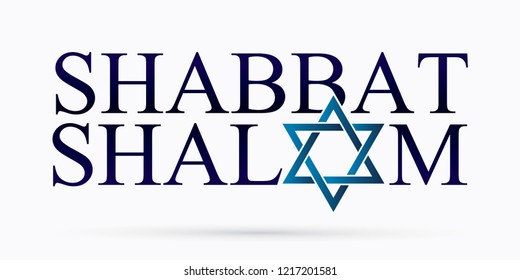 Shabbat Shalom text design Shabbat Shalom is a Hebrew word meaning to peace in God's rest day graphic vector