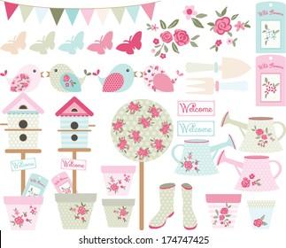 Shabby Chic Bird Garden
