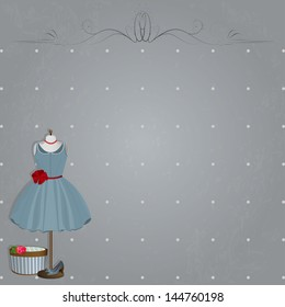 shabby design with the dress and shoes.