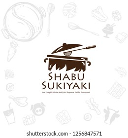 shabu sukiyaki logo icon graphic japanese buffet restaurant