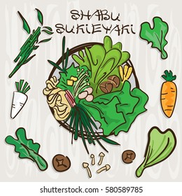 shabu sukiyaki objects Vegetable