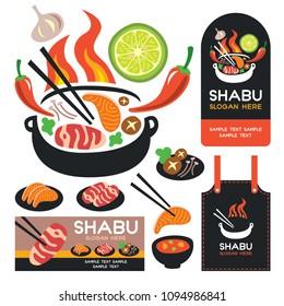 Shabu Sukiyaki Vector
