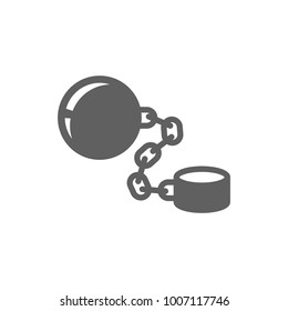 Shackle with chain icon vector