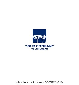 Shade Sails Logo Design Vector