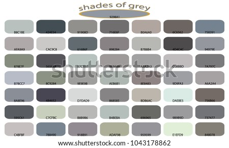 shades gray color isolated on white stock vector royalty free