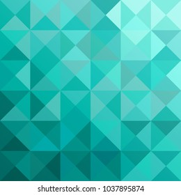 Shades of Mint Green -Triangles Abstract Background - Vector