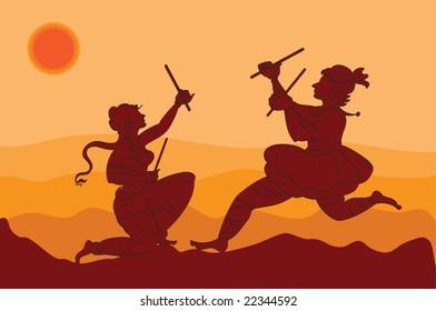 Shadow Art, Garba Traditional Dancers