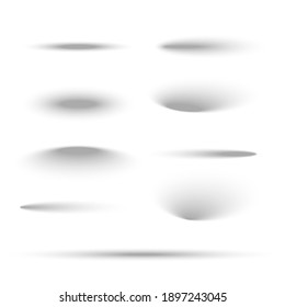 Shadow ball circle round vector bottom floor shadow. Oval shade ellipse illustration