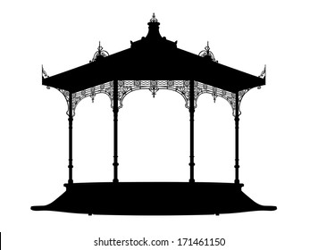 Shadow of a bandstand