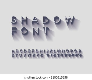 Shadow Font Set