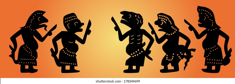 Shadow puppets set (Thai: Nang Talung) was one form of public entertainment in the south of Thailand.
