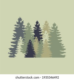 The Shadow of tree on forest illustration