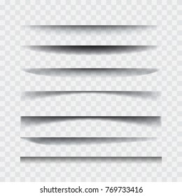 Shadows. Transparent realistic vector paper shadow effect set. Element for advertising and promo web banner. Abstract vectortemplate for design