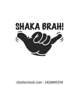 shaka hand gesture icon vector. shaka hand gesture symbol. Linear style sign for mobile concept and web design. Shaka symbol illustration. Pixel vector graphics - Vector.
