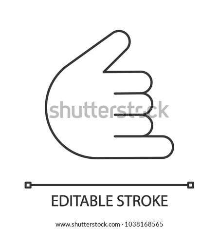 Shaka Hand Gesture Linear Icon Hang Stock Vector Royalty Free
