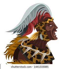 shaka zulu african brave warrior monarch