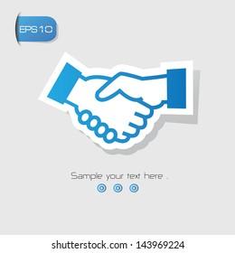 Shake hand symbol,vector