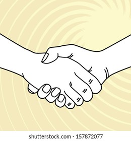 shake a hand vector illustration