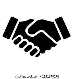 Shake hands Friendship of cooperation Icons Illustration Vector