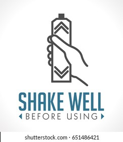 Shake well before using icon