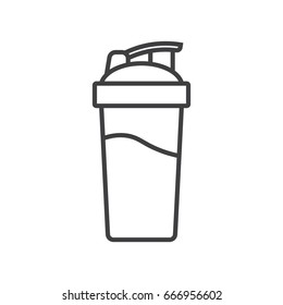 Shaker cup line icon. Blender bottle.
