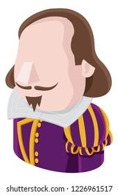 A Shakespeare man avatar cartoon person icon emoji