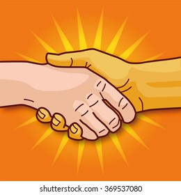 Shaking hands and economic cooperation