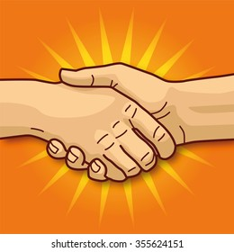 Shaking hands, friendship, and a good business deal
