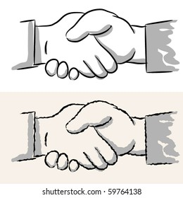 shaking hands. rough and smooth