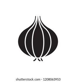 shallot icon vector. vegetable icon glyph style