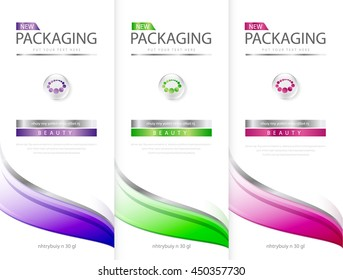 Shampoo bottle template design vector illustration.