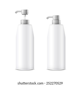 shampoo bottles package beauty design vector illustration