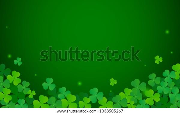 Shamrock Background Vector Illustration St Patricks Stock