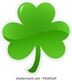 Shamrock or clover icon. Vector illustration