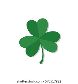 Shamrock or clover. Traditional irish symbol. Talisman or lucky charm. St. Patrick's day symbol. Vector illustration.
