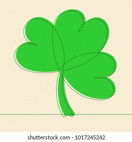 Shamrock Continuous Line Vector