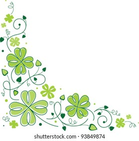 Shamrock Corner Vector Illustration