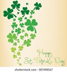 Shamrock St. Patrick's Day card in vector format.